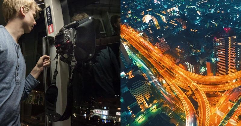 Justin Tierney съемка ночного города через стекло