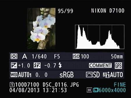 Классическая гистограмма на Nikon D7100