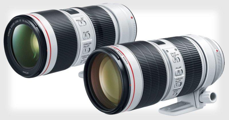Canon анонсировал вторую версию 70-200mm f/4L IS и третью версию модели 70-200mm f/2.8L IS