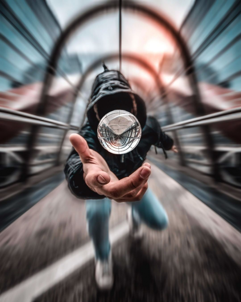 Как фотографировать с хрустальной сферой