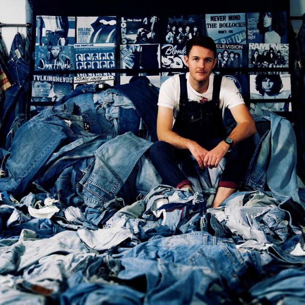 Ян Берри — фотохудожник, создающий картины из джинсовых лоскутков