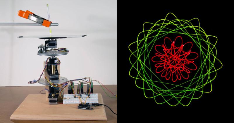 Светопись геометрической машиной для рисования