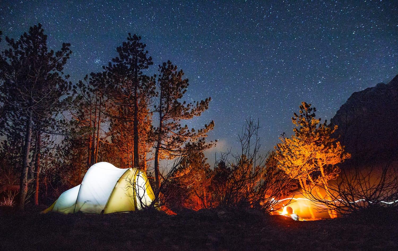 картинки поход ночь