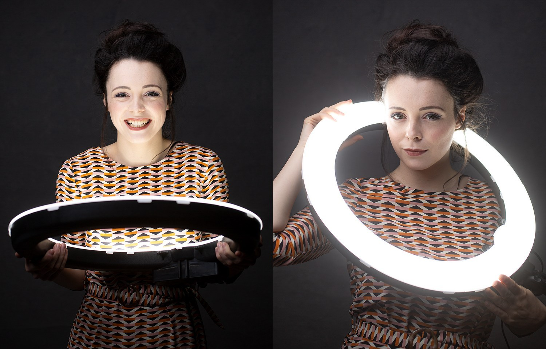 Светодиодное кольцо для портретного фото