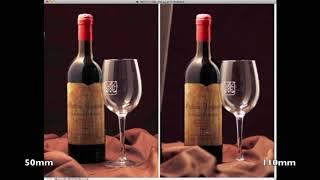 Фотосъемка бутылки вина и стеклянного бокала в домашних условиях