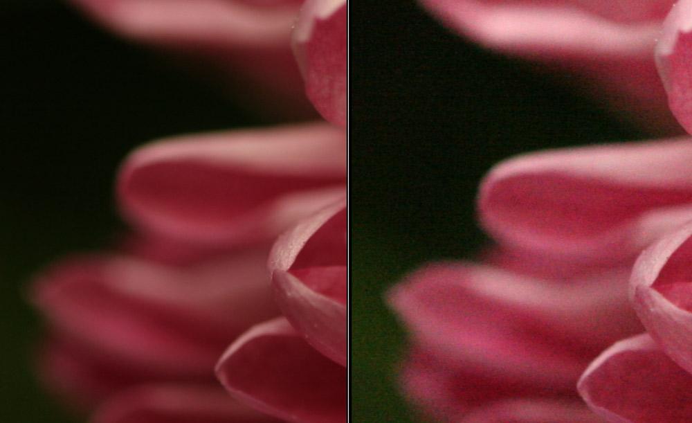 Различие фотографий с ISO100 и ISO3200