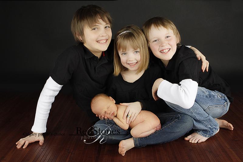 детская семейная фотография