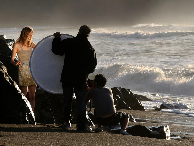 как фотографировать с рассеивателем на улице