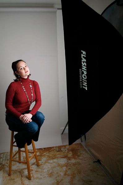 портрет с использованием софтбокса