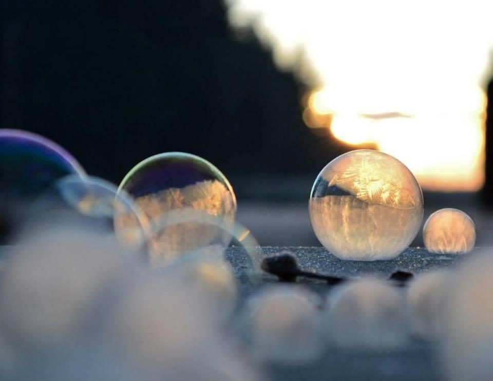 как фотографировать пузыри зимой