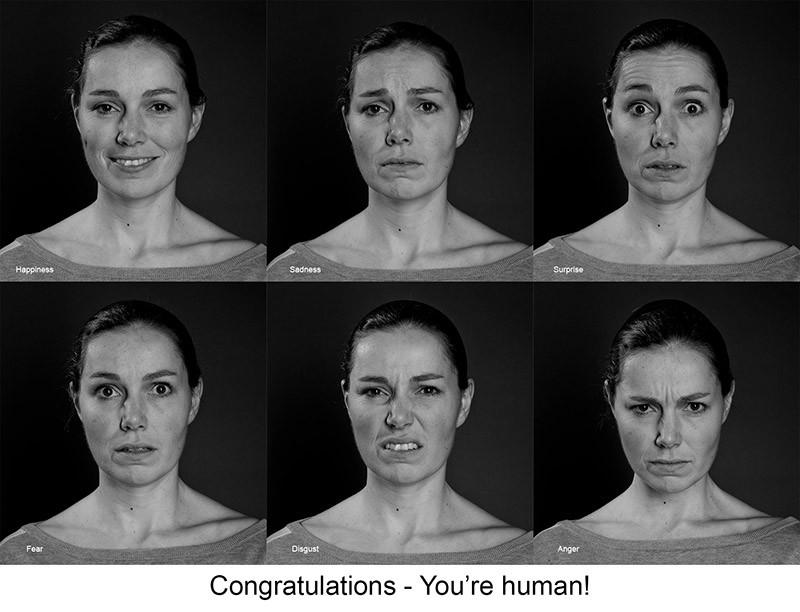 выражение эмоций на лице в портретной съемке