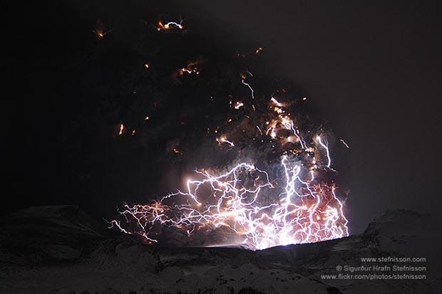 красивая фотография вулкана