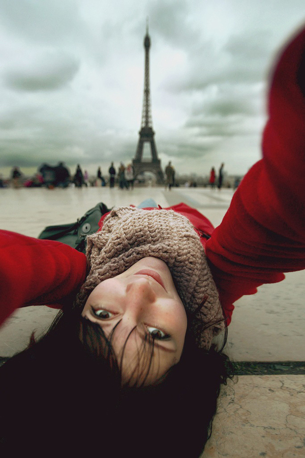 Selfportrait with Eiffel by Sokolova
