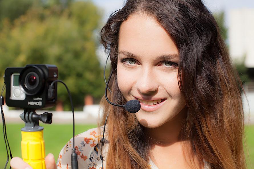 как записывают звук на GoPro