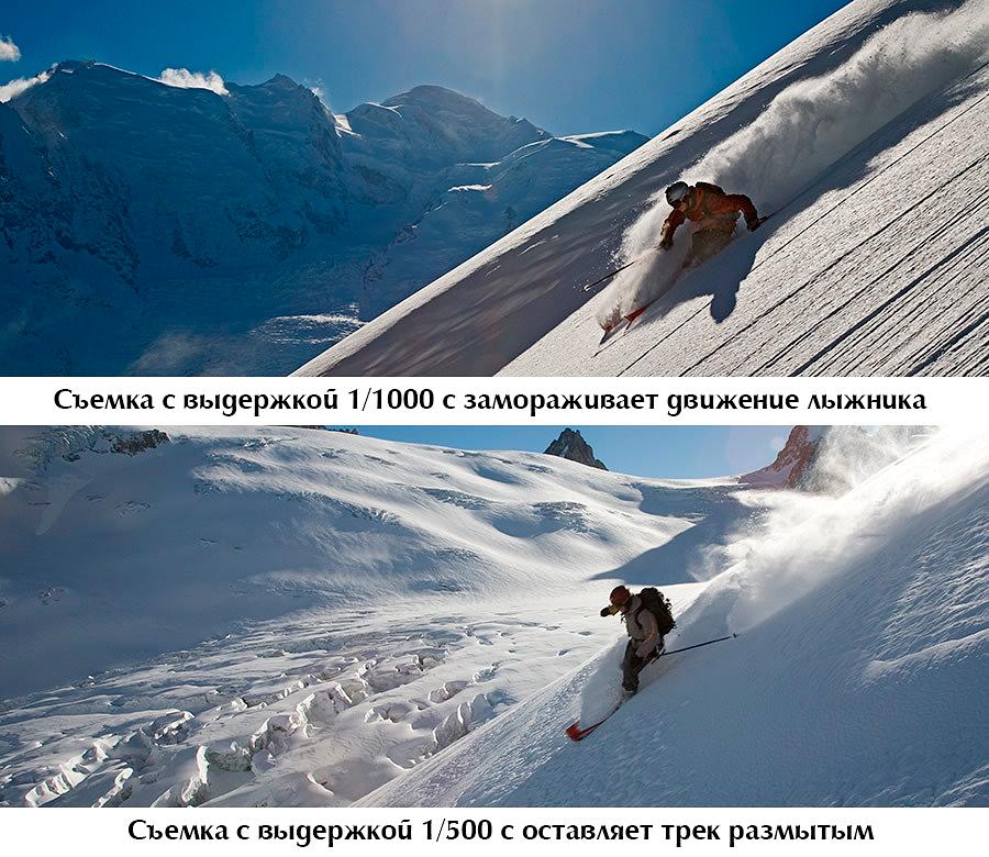 как снимать лыжников в горах