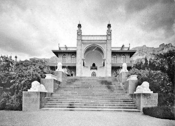 Алупка, Львиная терраса, 1900 год.