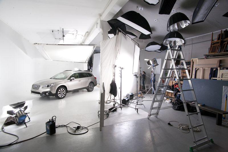 съемка автомобилей в фотостудии