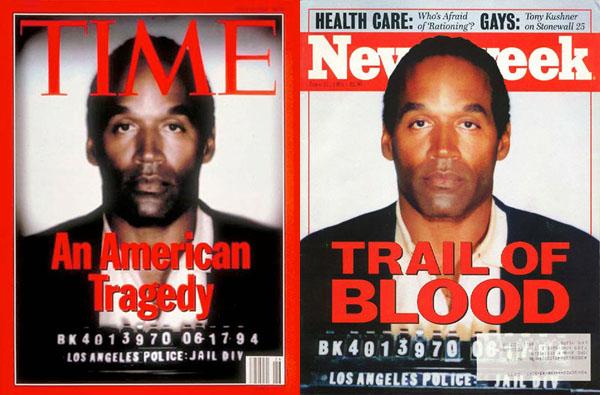 снимок О'Джей Симпсона с обложки Time Magazine