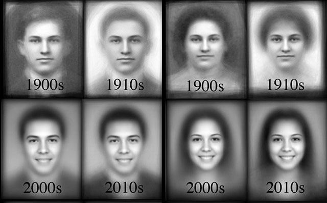 как меняются улыбки у людей в последние 100 лет