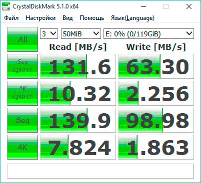скорость записи на карту памяти Toshiba