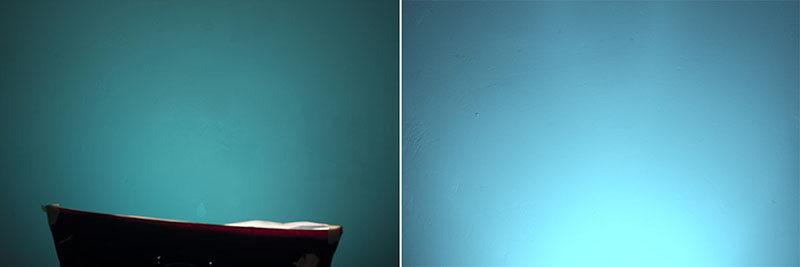 использование небольшого софтбокса с голубым гелем