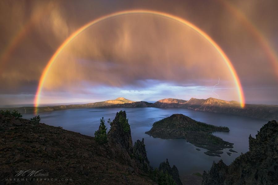 как сделать фото радуги