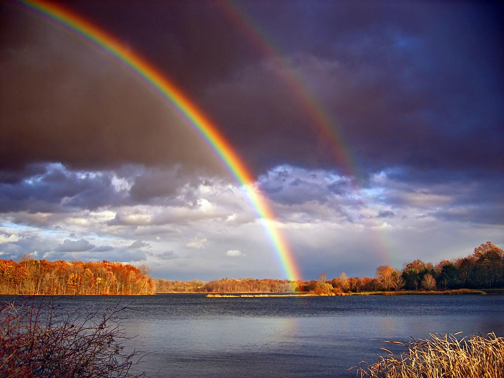 как можно сфотографировать радугу