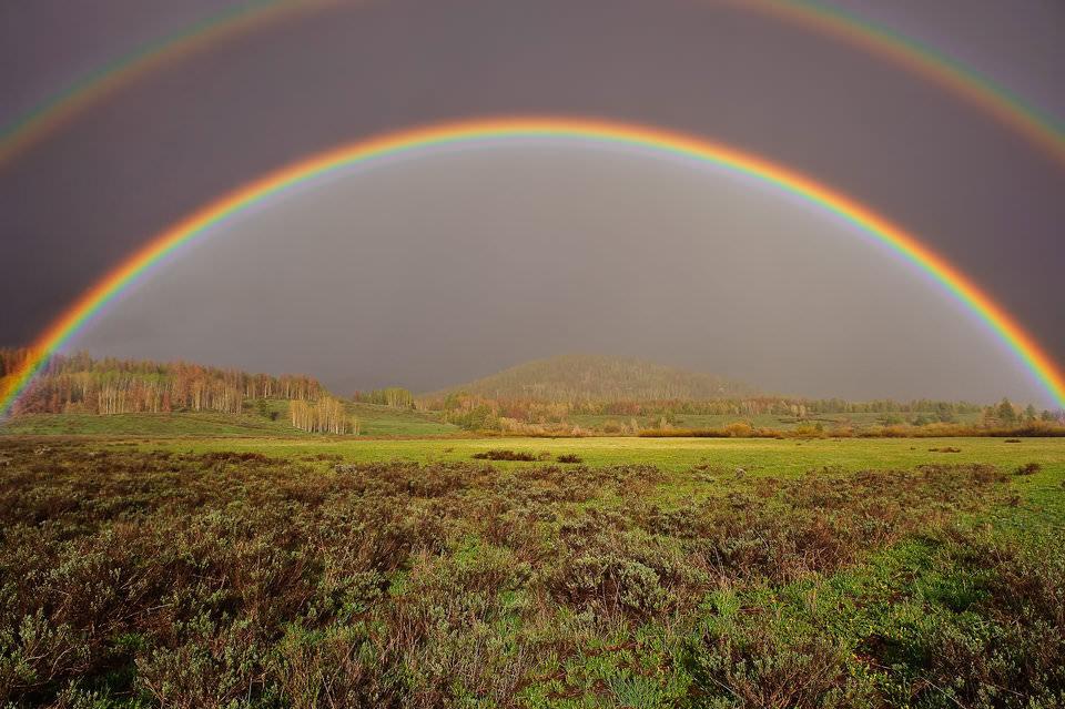 как сделать фото двойной радуги