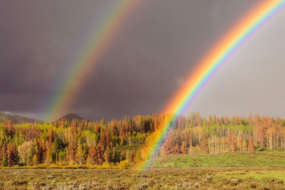 композиция для съемки радуги
