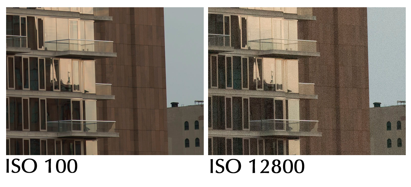 Как меняется чувствительность с изменением значения ISO