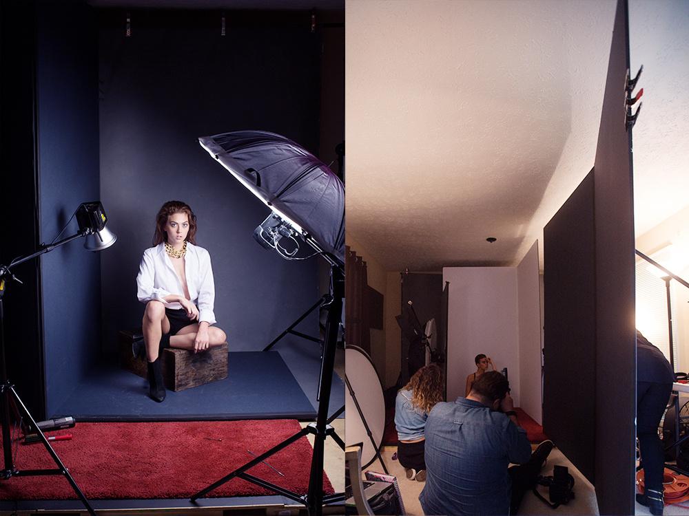 портреты с использованием V-флэтов